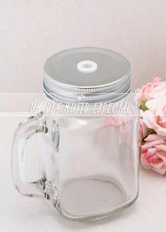 10 canecas jarra com tampa alumínio prateada 450ml mason jar