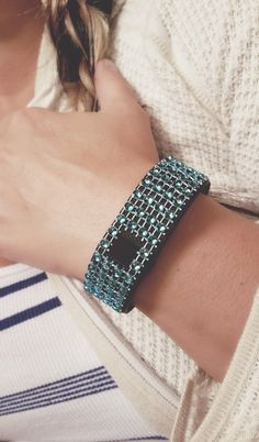 Non Adhesive Sky Blue FitBling for Fitbit Flex, Fitbit Charge, Fitbit Charge HR, Fitbit Surge, Fitbit Cover, Fitbit Bracelet, Accessory