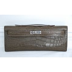 Hermes Alligator 31cm Kelly Cut Clutch Bag- This one is absolutely fabulous!! Kelly Cut, Absolutely Fabulous, Virtual Closet, Beautiful Bags, Hermes Kelly, Clutch Bag, Handbags, Fashion, Moda