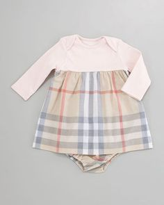 ShopStyle: Burberry Cherry Check-Skirt Dress