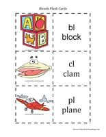 Consonant Blends Flash Cards - Have Fun Teaching