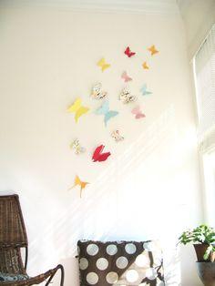 15 Butterflies, 3D Butterfly Wall Art, Wall Decor, Kids Room,Decal, Nursery, Baby Shower, Girls Room