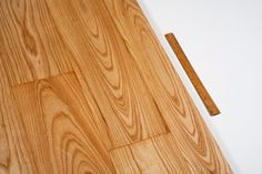 Solid ash flooring