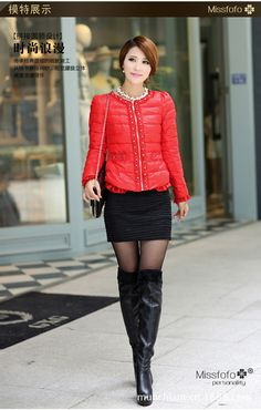 Free Shipping Missfofo Brand Orange/Red/Black/Green/Blue Winter Long Down Coat With a Hood Fashion Slim  Plus Size $120.00