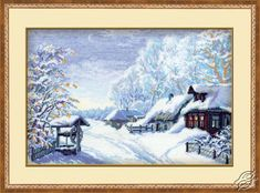 Winter Landscape - Cross Stitch Kits by RIOLIS - 989
