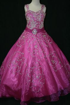 Girls Glitz Pageant Dresses-Long Skirt - LR857