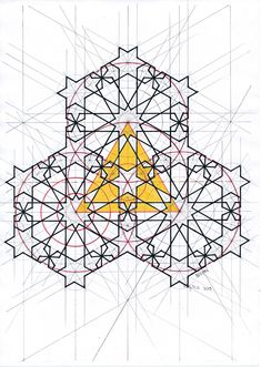 Geometry Pattern, Geometry Art, Islamic Patterns, Geometric Drawing, Math Art, Crochet Doilies, Islamic Art, Mandala, Arts And Crafts