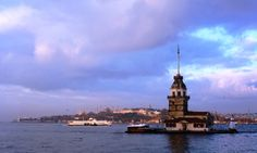 Istanbul Maiden Tower and Bosphorus