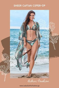 😍 SHEER CAFTAN COVER-UP Soften up your swim look with this vibrant sheer cover-up that can easily double as a maxi kimono to give your day-to-day outfits some beachy flair! #bikinibottom #coverups #bikinis #bikiniaddict #bikiniseason #summer #summertime #beachgirl #beachwear #swimsuit #Swimwear #shopping #shoppingqueen Swimsuits, Bikinis, Swimwear, Sheer Cover Up, Beachwear For Women, Lovely Dresses, Bikini Bottoms, Outfit Of The Day, Summertime