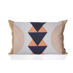 Colors  Ferm Living Totem Organic Cotton Pillow Coral, available at #polkadotpeacock. #peacocklove #fermliving