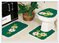 medidas para jogo de banheiro em barbante com tampo de vaso quadrado - Pesquisa Google