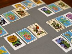 A great collection of flower stamps!