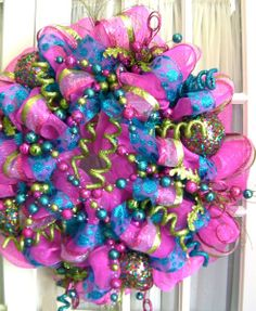 Poly Deco Mesh Wreath