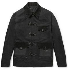 CoachSlim-Fit Leather, Felt and Corduroy-Panelled Cotton Jacket