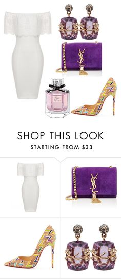 Untitled #104 by smooney019 on Polyvore featuring Christian Louboutin, Yves Saint Laurent, Federica Rettore and Gucci