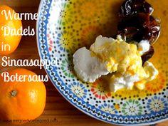 Warme dadels in sinaasappel botersaus