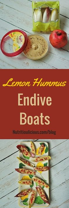 Wow your guests with zesty and creamy Sabra Dipping Company lemon hummus stuffed endive spears topped with sweet and juicy pomegranate seeds. Quick Appetizers, Easy Appetizer Recipes, Lunch Recipes, Healthy Side Dishes, Healthy Snacks, Healthy Recipes, Savory Snacks, Dairy Free Recipes, Gluten Free