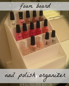 foam board nail polish organizer. full tutorial with photos @ bailey marie and me.