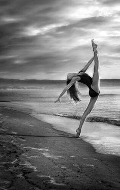 Dance alone on the beach