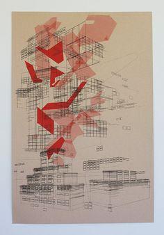 Square by Ben Kafton $60 #print #geometric #architectural