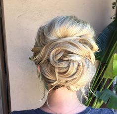 Spiral updo styled using Glop and Glam's Vanilla Cream   #fishtail #braid #updo #eventhair #weddinghair #glopandglam