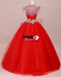 Wholesale 2017 Sweet 15 Dress sparkle High Collar Quinceanera Dresses Beading Crystal Wedding Prom Dress
