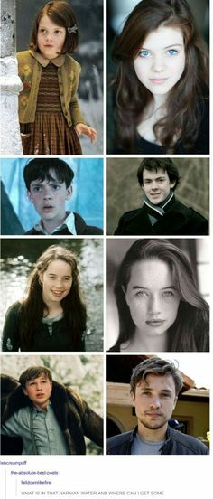 Chronicles of Narnia, Pevensies then and now! Peter Pevensie, Lucy Pevensie, Narnia Cast, Narnia 3, Cs Lewis, Movies Showing, Movies And Tv Shows, Narnia Movies, Teen Wolf