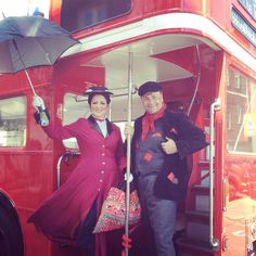 Our very own Mary Poppins & Bert performing at a birthday party in London