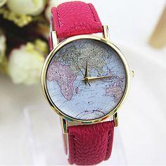 Women's Multicolor Print Bohemia Style PU Leather Band Analog Quartz Wrist Watch (Assorted color) – MXN $ 63.16