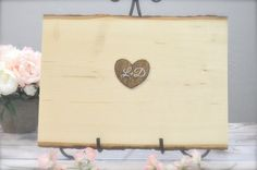 2 WEEKS PROCESSING TIME (PRIOR TO SHIPPING). PLEASE PLAN ACCORDINGLY. DESCRIPTION & DETAILS:    Beautiful wood slice guest book alternative