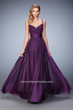 Prom dress purple gemstones