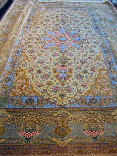Qum Silk Persian Rug | Exclusive collection of rugs and tableau rugs - Treasure Gallery You pay: CALL FOR DETAILS Retail Price: $65,000.00 You Save: 100% ($65,000.00) Item#: Q1005 Category: Medium(6x9-8x11) Persian Rugs Design: Size: 200 x 300 (cm) 6' 6 x 9' 10 (ft) Origin: Persian Foundation: Silk Material: Silk Weave: 100% Hand Woven Age: Brand New KPSI: 900