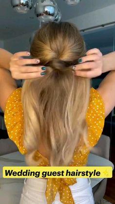 Easy Hairstyles For Long Hair, Pretty Hairstyles, Weekend Hairstyles, Easy Wedding Guest Hairstyles, Baby Girl Hairstyles, Work Hairstyles, Hairdos, Great Hair, Hair Today