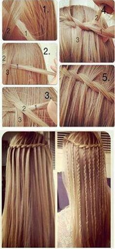 waterfall braid + roping