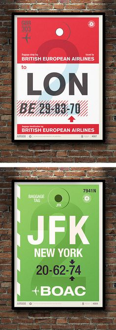 Flight Tag Prints by Neil Stevens | Inspiration Grid | Design Inspiration