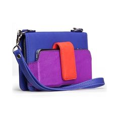 Color Block Kayla Clutch, Crossbody Wallet in Leather by Case-mate ($90) found on Polyvore