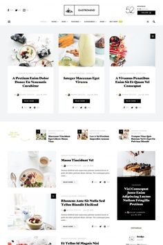 Essential Help And Advice On Simple Web Design Webdesign Inspiration, Blog Design Inspiration, Blog Website Design, Wordpress Website Design, Modern Web Design, Ux Design, Magazin Design, Modern Food, Blog Layout