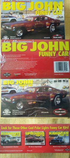 Hot Rod 2582: Polar Lights Big John Mazmanian S 68 Cuda Funny Car 1 25 Scale Model Kit -> BUY IT NOW ONLY: $39 on eBay!