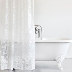 DAMASK SHOWER CURTAIN - Shower Curtains - Bathroom | Zara Home United States of America