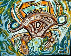 Picaso Crab by artist Erika Johnson  www.erikajohnsoncreations.com