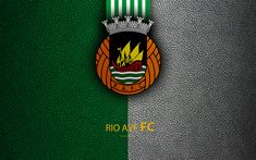 Download wallpapers Rio Ave FC, 4K, leather texture, Liga NOS, Primeira Liga, emblem, logo, Vila do Condi, Portugal, football, Portugal Football Championships