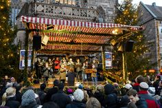 Choirs, music groups and the Nuremberg Christkind offer a varied Christmas program at the stage in front of Our Lady's Church. (photo: Uwe Niklas) ---------------------------------------------------- Terms of use: It is allowed to use the photo for touristic or economic depiction of the location Nuremberg or for press work. A commercial use is strictly prohibited. The photo is protected by copyright, the photographer has to be named when using the picture.
