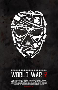 World War Z (2013) ~ Minimal Movie Poster by Mackenzie Fletcher #amusementphile