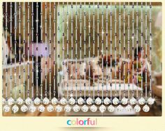crystal glass Eco-friendly beads curtain for hotel store shop coffee or home decoration hanging door beads curtain