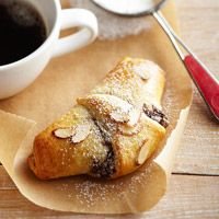 Easy Chocolate-Almond Croissants - oh yum!!