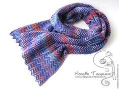 Купить Шарф а-ля Миссони 2 - шарф, шарфик, шарф женский, женский шарф