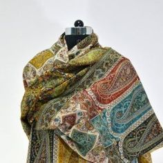 Amazingly soft, warm and lightweight, this Jamawar scarf is a stand out addition to anyone's wardrobe. The traditional design of Jamawar collection is made in complementary colors with a  distinctive, lustrous effect.