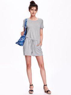 Short-Sleeve Jersey Romper