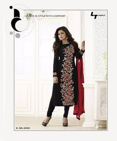 Madhubala Designer Black Salwar Kameez