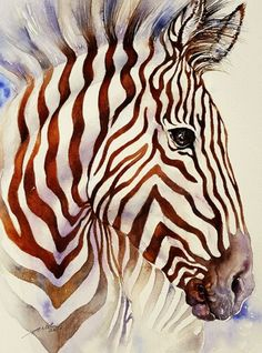 Buy Umber Stripes II, Watercolours by Arti Chauhan on Artfinder. Discover…